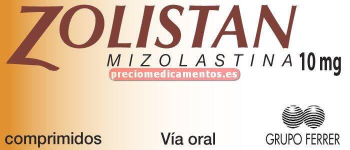 Caja ZOLISTAN 10 mg 20 comprimidos recubiertos