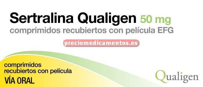 Caja SERTRALINA QUALIGEN EFG 50 mg 30 comprim recub
