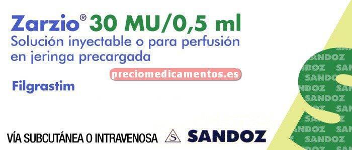 Caja ZARZIO 30 MU (0,6 mg/ml) 1 jer prec 0,5ml DISP SEG