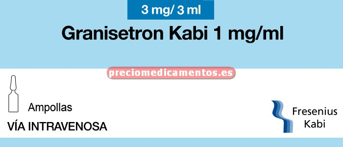 Caja GRANISETRON KABI EFG 3 mg 5 ampollas 3 ml