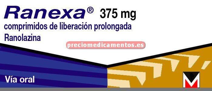 Caja RANEXA 375 mg 60 comprimidos liberación prolongada