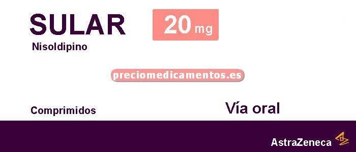 Caja SULAR 20 mg 30 comprimidos liberación sostenida