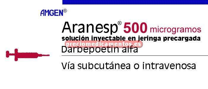 Caja ARANESP 500 mcg 1 jeringa precarg 1 ml C/PROTEC