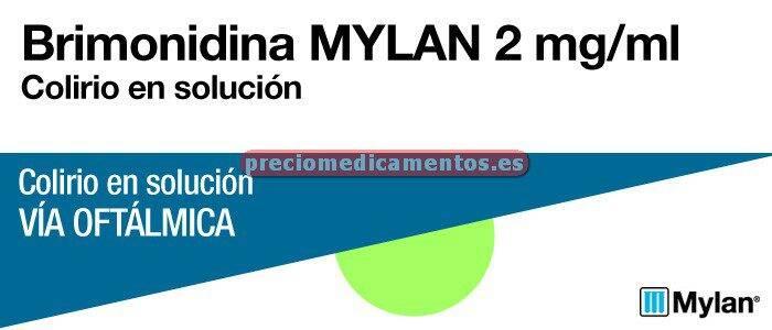 Caja BRIMONIDINA MYLAN 0,2% colirio 5 ml