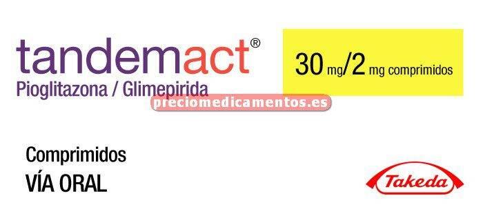 Caja TANDEMACT 30/2 mg 28 comprimidos