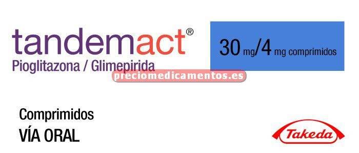 Caja TANDEMACT 30/4 mg 28 comprimidos