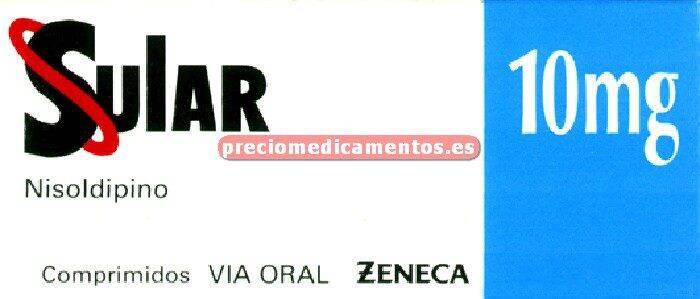 Caja SULAR 10 mg 30 comprimidos liberación sostenida