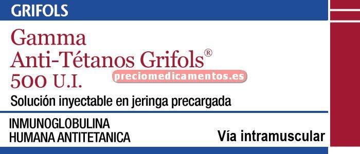 Caja GAMMA ANTITETANOS GRIFOLS 500 UI 1 jer prec 2 ml