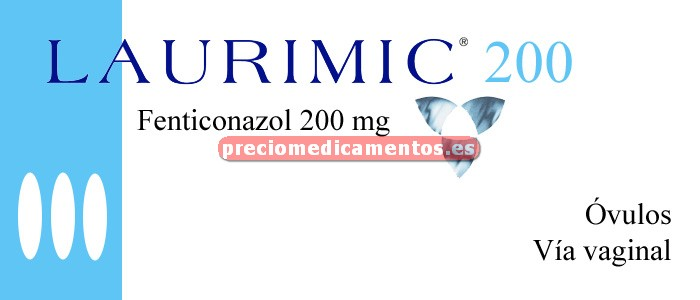 Caja LAURIMIC VAGINAL 200 mg 3 óvulos