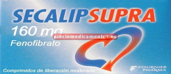 Caja SECALIP SUPRA 160 mg 30 comprimidos cubierta pelic
