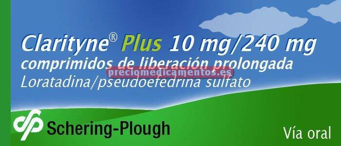Caja CLARITYNE PLUS 10/240 mg 7 compr liber prolongada
