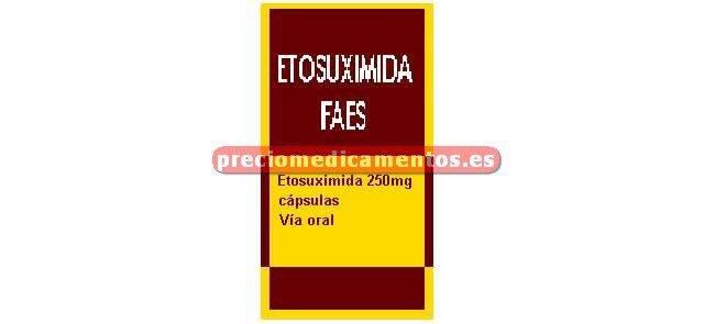 Caja ETOSUXIMIDA FAES 250 mg 30 cápsulas