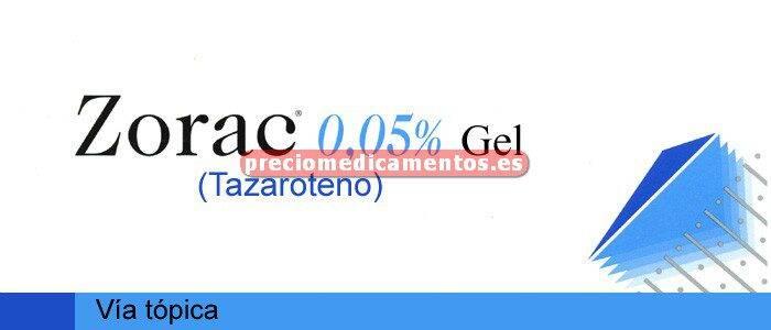 Caja ZORAC 0.05% gel 15 g