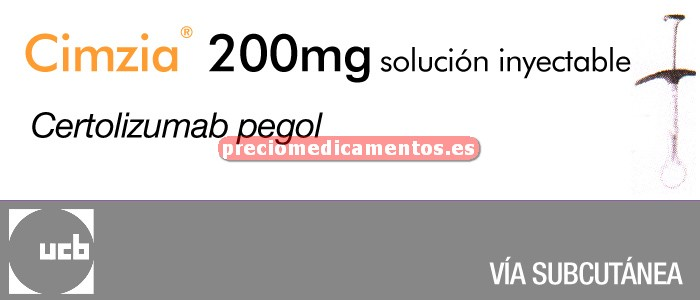 Caja CIMZIA 200 mg 2 jeringas precargadas 1 ml