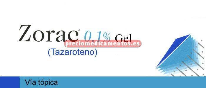 Caja ZORAC 0.1% gel 60 g