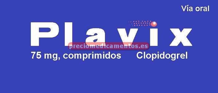 Caja PLAVIX 75 mg 50 comprimidos recubiertos