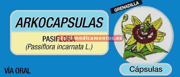 Caja ARKOCAPSULAS PASIFLORA 300 mg 50 cápsulas