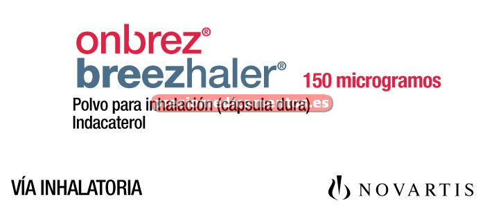Caja ONBREZ BREEZHALER 150 mcg 30 cáps inhal+inhalador