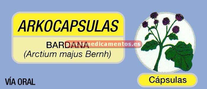 Caja ARKOCAPSULAS BARDANA 350 mg 84 cápsulas