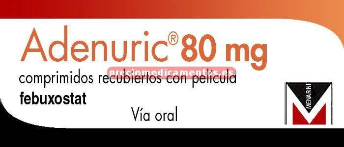 Caja ADENURIC 80 mg 28 comprimidos recubiertos