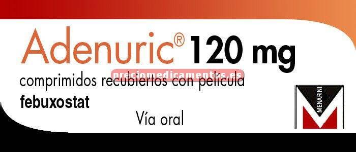 Caja ADENURIC 120 mg 28 comprimidos recubiertos
