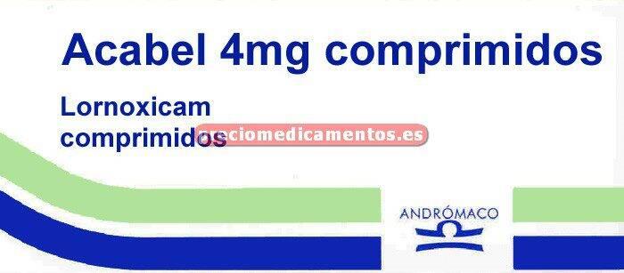 Caja ACABEL 4 mg 20 comprimidos