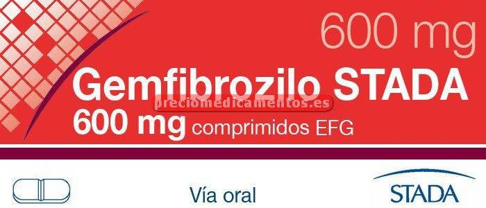 Caja GEMFIBROZILO STADA EFG 600 mg 60 comprimidos