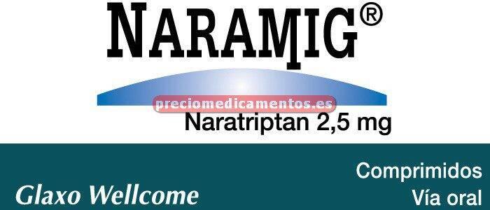 Caja NARAMIG 2.5 mg 6 comprimidos cub pelicular