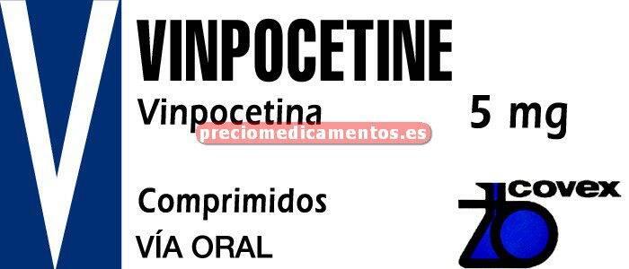 Caja VINPOCETINA COVEX 5 mg 25 comprimidos