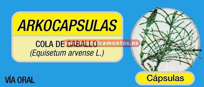 Caja ARKOCÁPSULAS COLA DE CABALLO 190 mg 100 cápsulas