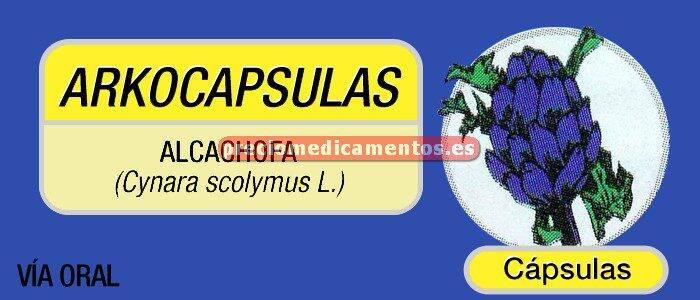 Caja ARKOCAPSULAS ALCACHOFA 150 mg 50 cápsulas