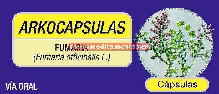 Caja ARKOCÁPSULAS FUMARIA 220 mg 48 cápsulas