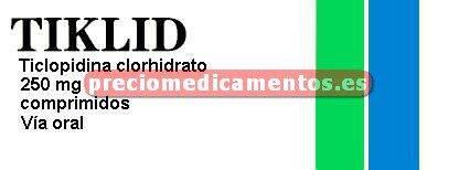 Caja TIKLID 250 mg 50 comprimidos