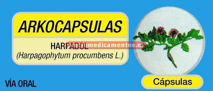 Caja ARKOCAPSULAS HARPAGOFITO 435 mg 50 cápsulas