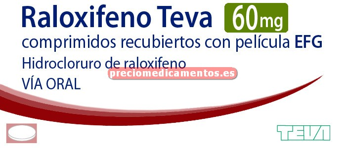 Caja RALOXIFENO TEVA EFG 60 mg 28 comprimidos recub