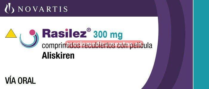 Caja RASILEZ 300 mg 28 comprimidos recub (PCTFE/PVC)