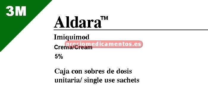 Caja ALDARA 5% CREMA 24 sobres 250 mg