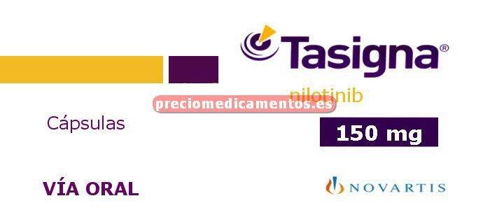 Caja TASIGNA 150 mg 112 cápsulas