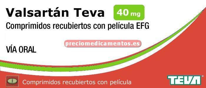 Caja VALSARTAN TEVA EFG 40 mg 14 comprimidos recub