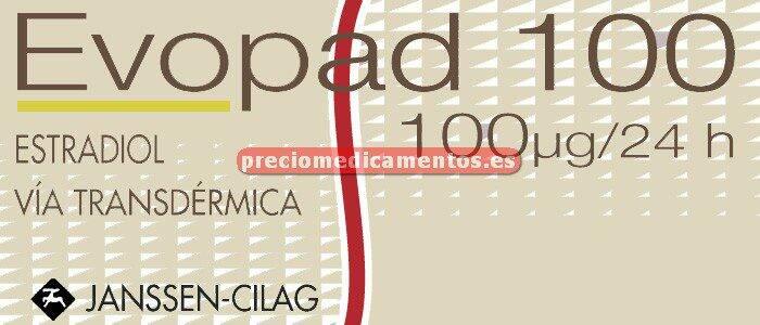 Caja EVOPAD 100 mcg/24h 8 parches transd 6,4 mg