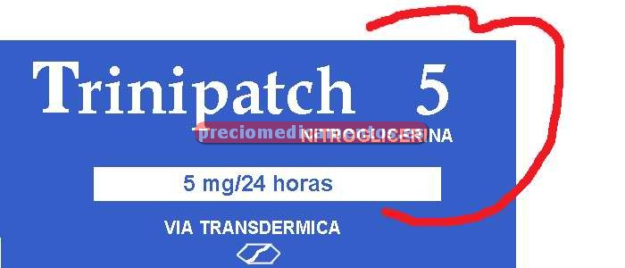 Caja TRINIPATCH 5 mg/24 h 30 parches transdérm 22.4 mg