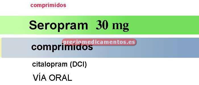 Caja SEROPRAM 30 mg 28 comprimidos