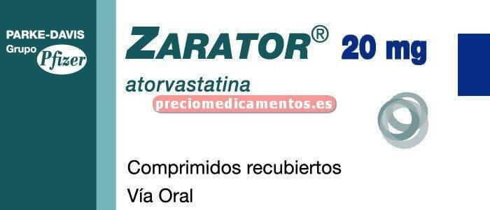 Caja ZARATOR 20 mg 28 comprimidos recubiertos