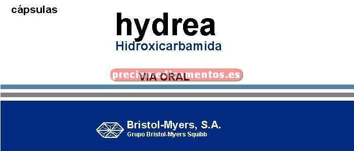 Caja HYDREA 500 mg 20 cápsulas