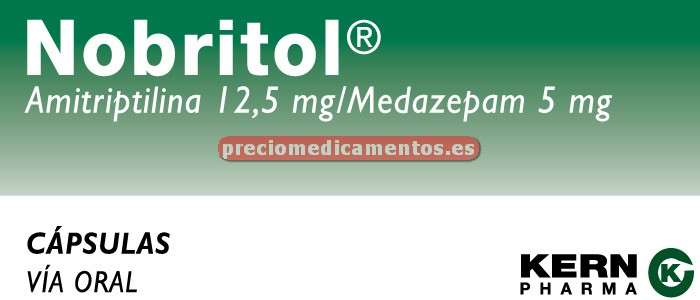 Caja NOBRITOL 12,5/5 mg 60 cápsulas