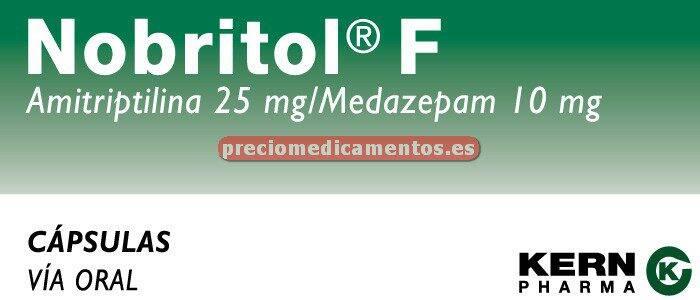 Caja NOBRITOL FORTE 25/10 mg 60 cápsulas