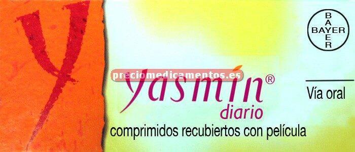 Caja YASMIN DIARIO 0,03/3 mg 3x28 comprimidos recubiertos (21-7)