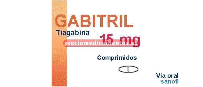 Caja GABITRIL 15 mg 100 comprimidos recubiertos