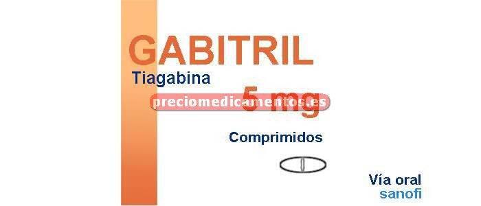 Caja GABITRIL 5 mg 100 comprimidos recubiertos