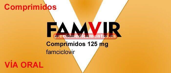 Caja FAMVIR 125 mg 10 comprimidos recubiertos